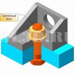 Крепёжный болт :: Болт для образования разъёмного соединения деталей