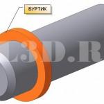 БУРТИК :: Кольцевое утолщение на цилиндрических деталях