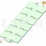 Цепь  транспортная пластинчатая для стеклянной тары тип S ГОСТ 27272-87 :: Пластинчатая цепь конвейеров