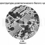 Диаграмма состояния сплавов системы Fe–Fe3C :: Структурный анализ сплава с концентрацией углерода 3,8%