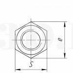 Шестигранная гайка :: Гайка с внешней поверхностью в виде правильной шестигранной призмы