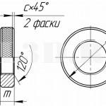 Гайка круглая глухая.Исполнение 1 :: Круглая гайка с мелкой насечкой на внешней цилиндрической поверхности