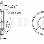 Круглая гайка с радиальными отверстиями.Исполнение 1 :: Круглая гайка с радиальными отверстиями на внешней цилиндрической поверхности под гаечный ключ