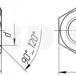 Особо высокая гайка :: Гайка с высотой, равной 1,5 номинального диаметра резьбы