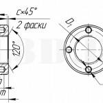 Гайка с торцовыми отверстиями :: Круглая гайка с четырьмя несквозными отверстиями по торцу под гаечный ключ