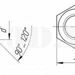 Высокая гайка :: Гайка с высотой больше 0,8 номинального диаметра резьбы