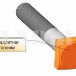 Квадратная головка :: Головка (болта или винта) с квадратным поперечным сечением