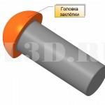 Головка заклёпки :: Утолщение на конце стержня заклёпки