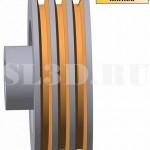 Канавка  шкива :: Кольцевая канавка трапецеидального сечения на шкиве клиноремённой передачи для размещения клиновидного ремня