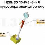 Нутромер индикаторный :: Нутромер, в конструкцию которого входит индикатор часового типа