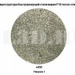 Быстрорежущая сталь :: Микроструктура быстрорежущей стали марки Р18 после отжига