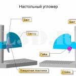 Настольный угломер :: Прибор для измерения углов режущей части инструментов