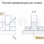 Плоский направляющий узел штампа :: Направляющий узел штампа, имеющий одну или несколько плоских направляющих поверхностей